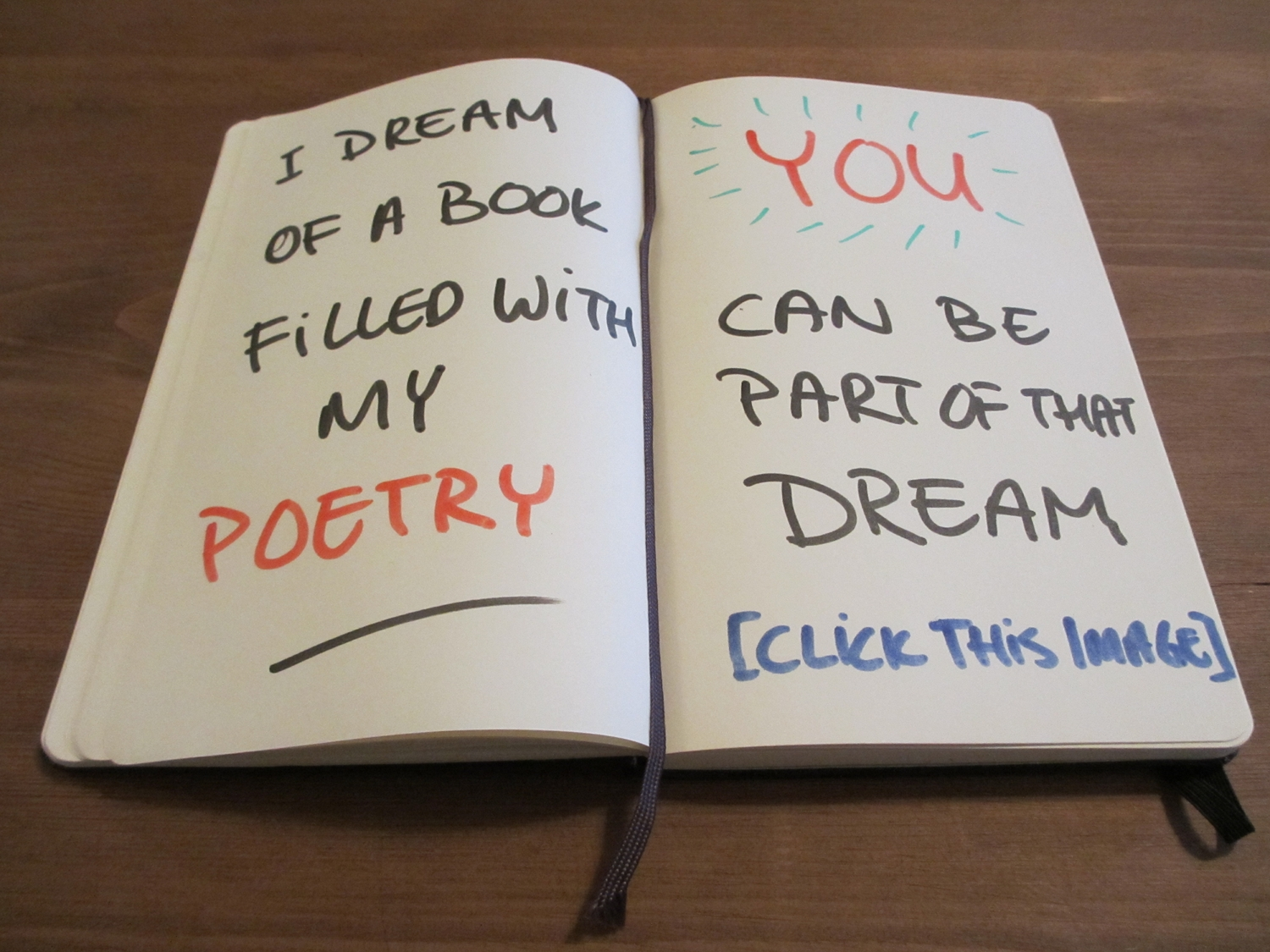 Be part of my dream to publish a poetry book