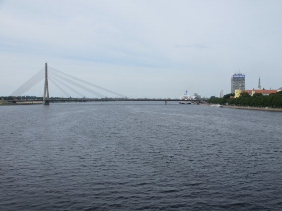 Vansu bridge connecting central Riga to Pardaugava