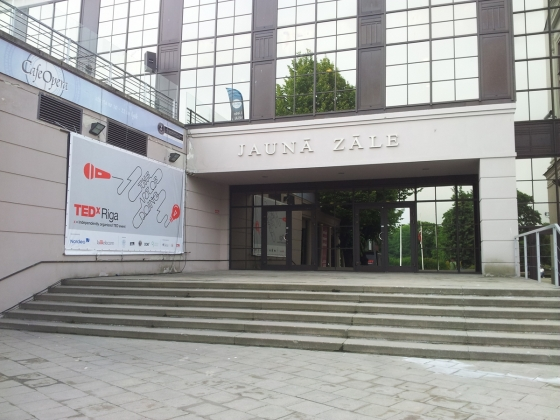 Entrance of the Latvian National Opera New Hall, and TEDxRiga