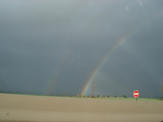 Look close and see the double rainbow